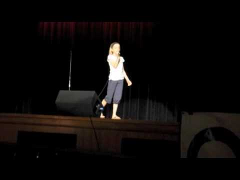 Sara Goodwin-10 year old- sings God Bless the Broken Road