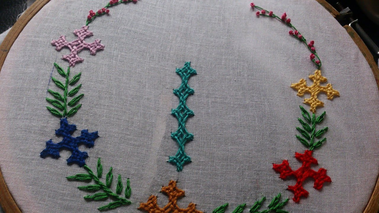 Hand embroidery designs kutch work tutorial