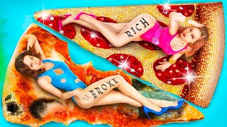 Rich Girl vs Broke Girl  Rich Fast Food vs Broke Fast Food