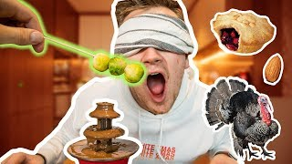 BLINDFOLDED CHOCOLATE FONDUE CHALLENGE