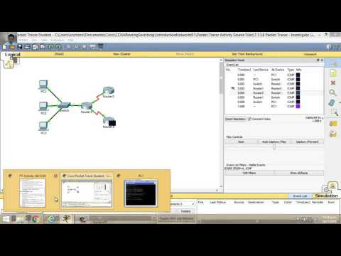 7.1.3.8 Packet Tracer - Investigate Unicast, Broadcast, and Multicast Traffic