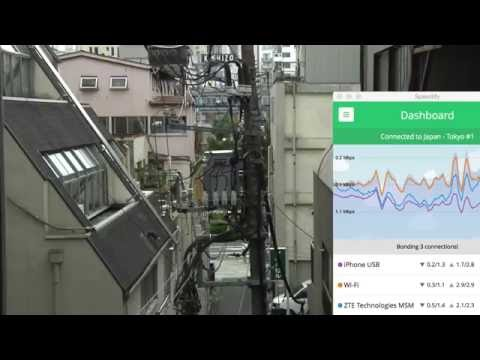 Wirecast7+Speedify+iPhone(ocn Mobile one)+SoftBank(303ZT)+Emobile(GL-06P) Bonding Test