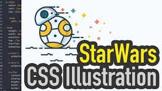 StarWars BB-8 CSS Speed Drawing