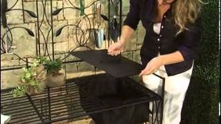Oversized! Coral Coast Willow Creek  Metal Potting Bench Black - Product Review Video