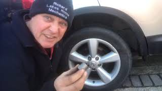 How to remove locĸing wheel nut with the spinning ring with out the key tool