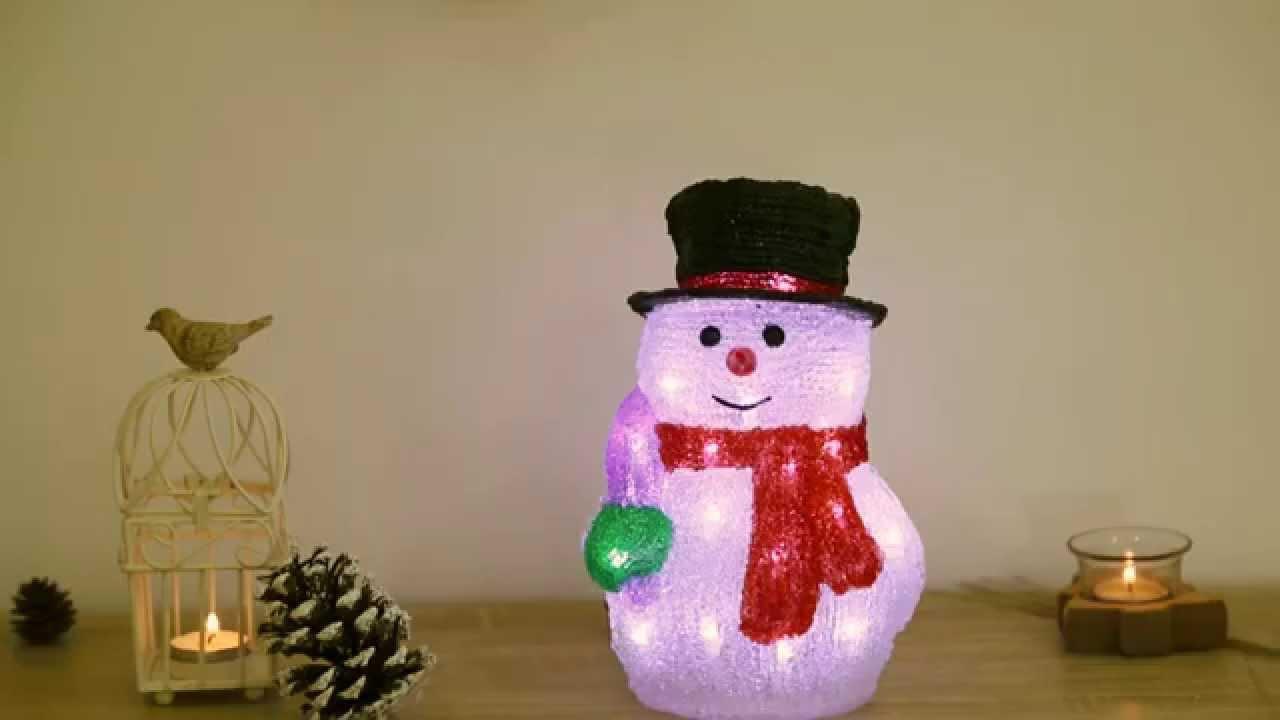 Weihnachtsbeleuchtung Schneemann Außen.Jago Led Acryl Weihnachtsbeleuchtung Schneemann Wnblt01