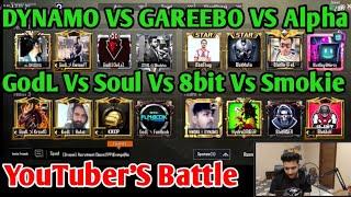 Dynamo Team Vs Mortal Vs Gareeboo Vs Kronten Vs Alpha Clasher Vs MdisCrazy, Pubg Streamers Battle