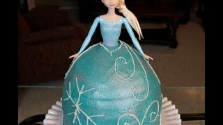 FROZEN Barbie Cake Tutorial