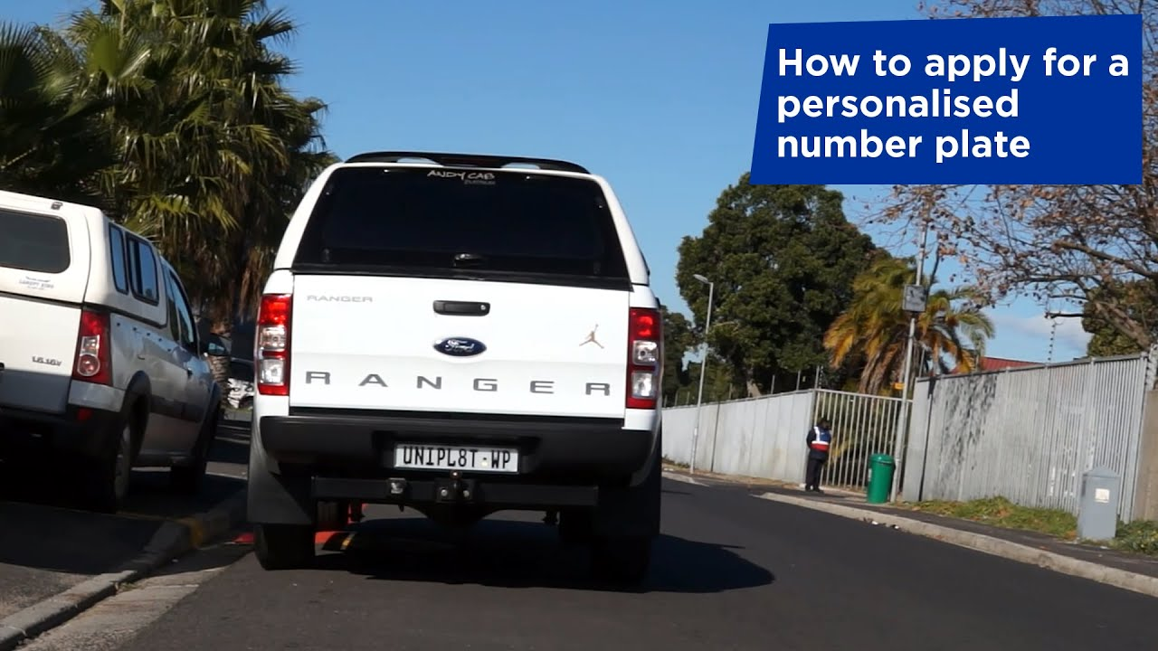 How to Apply for a Personalised Number Plate | Western Cape Government