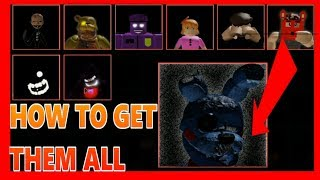 (Roblox) ALL SECRET CHARACTERS IN AFTONS FAMILY DINER IN ROBLOX (1-9)