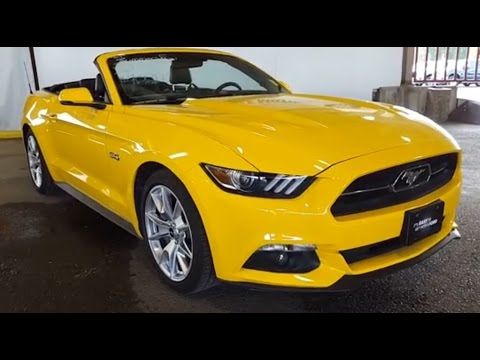 2015 Yellow Ford Mustang GT Premium Anniversary Review | PG Motors