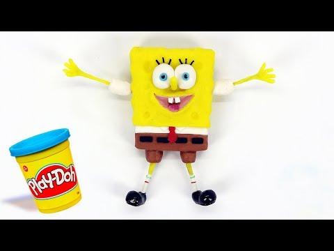 Spongebob Squarepants Playdoh STOP MOTION playdo video Stopmotion Bob Esponja
