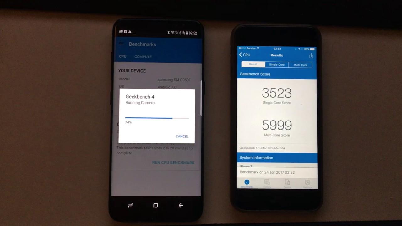 Samsung S8 Antutu Vs Iphone 7