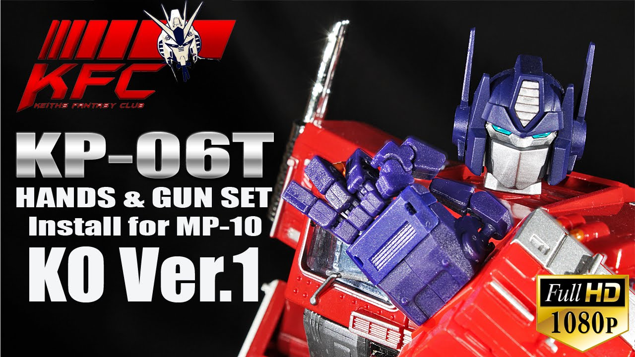 KFC KP-06B Hands and gun set for Masterpiece MP10B in stock