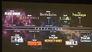 MCU Phase 4 Announced at SDCC   MCU Phase 4   SDCC   Thor 4 Shang Chi Doctor Strange 2 Fantastic 4
