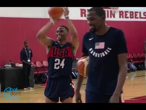 Kevin Durant and Russell Westbrook Workout Together! 2018 USA Minicamp