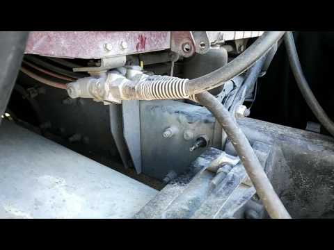 Freightliner replacing cab shocks