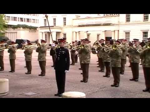 Foot Guards Massed Bands Drill Rehearsal for Trooping The Colour - 13 May 2014