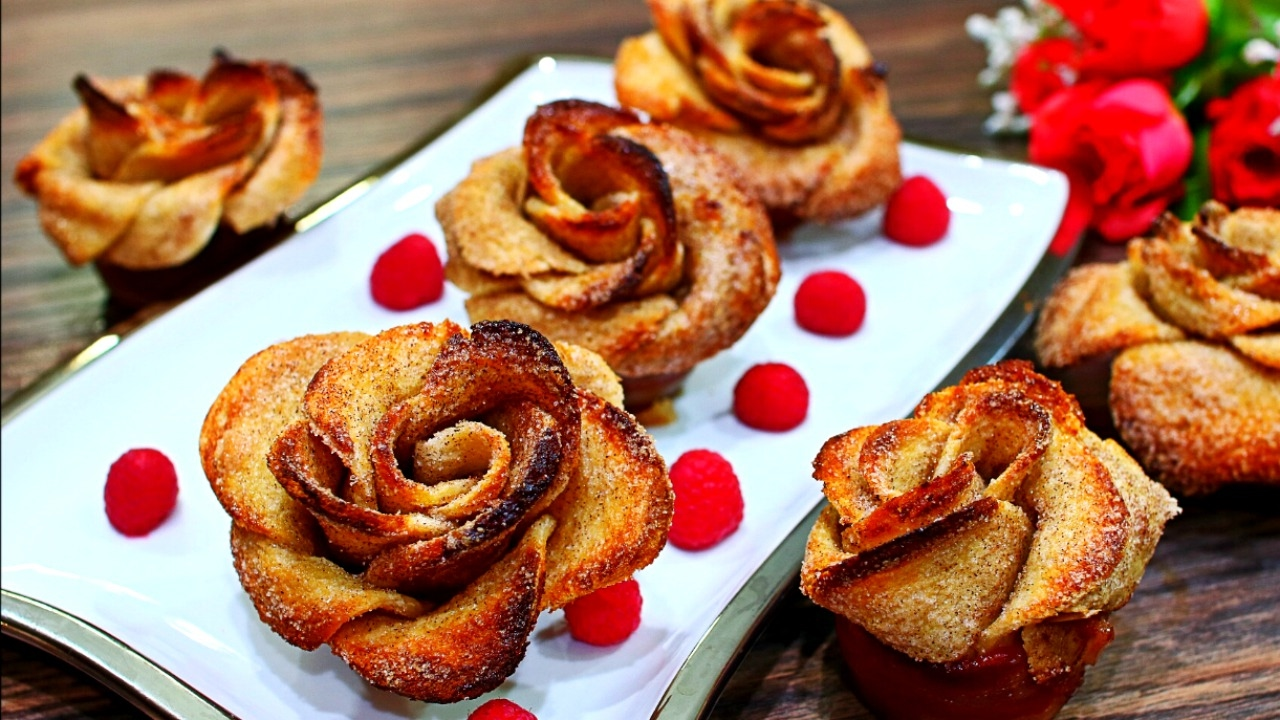 Beautiful French Toast Roses  How To Make Rose Shaped French Toast