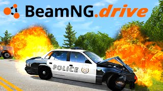BeamNG Drive : AHHHH IM ON FIRE!!!