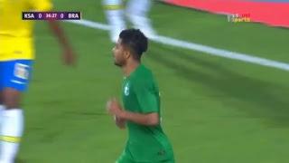 الشوط الأول لمباراة السعودية Vs البرازيل البطولة : مباراة ودية المعلق : فهد العتيبي + بلال علام