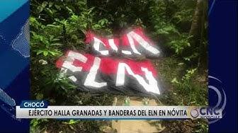 Ejército halla granadas y banderas del eln en nóvita