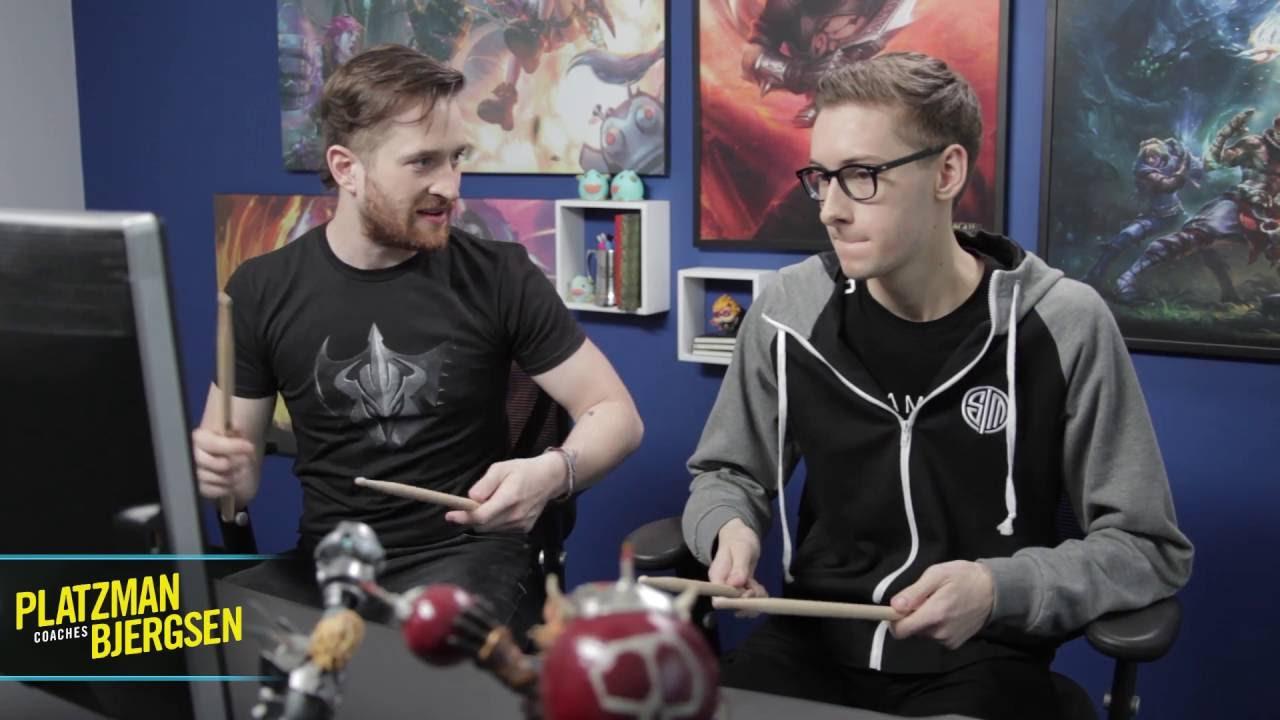 Extra: Platzman coaches Bjergsen - Imagine Dragons' drummer Daniel Platzman teaches Bjergsen some basics of drumming