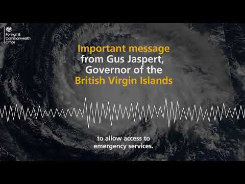 Important message for the people of the British Virgin Islands