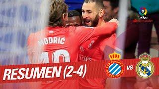 Resumen de RCD Espanyol vs Real Madrid (2-4)