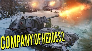 EPIC BATTLE in the Russian Winter Company of Heroes 2 Multiplayer 4v4