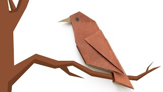 Origami bird. Simple origami for beginners