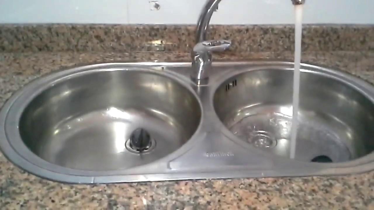 تركيب الصنبور المزدوج او الخلاط والسفون المزدوج لحوض المطبخ Youtube