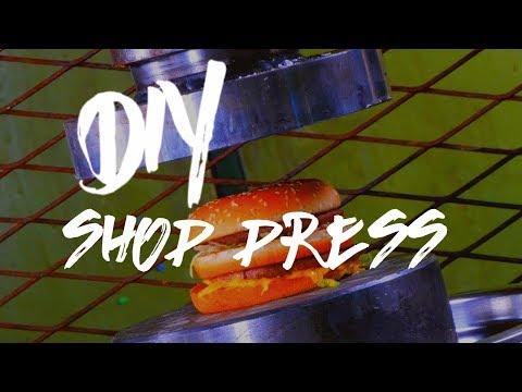 DIY shop press ( Terrible accident )