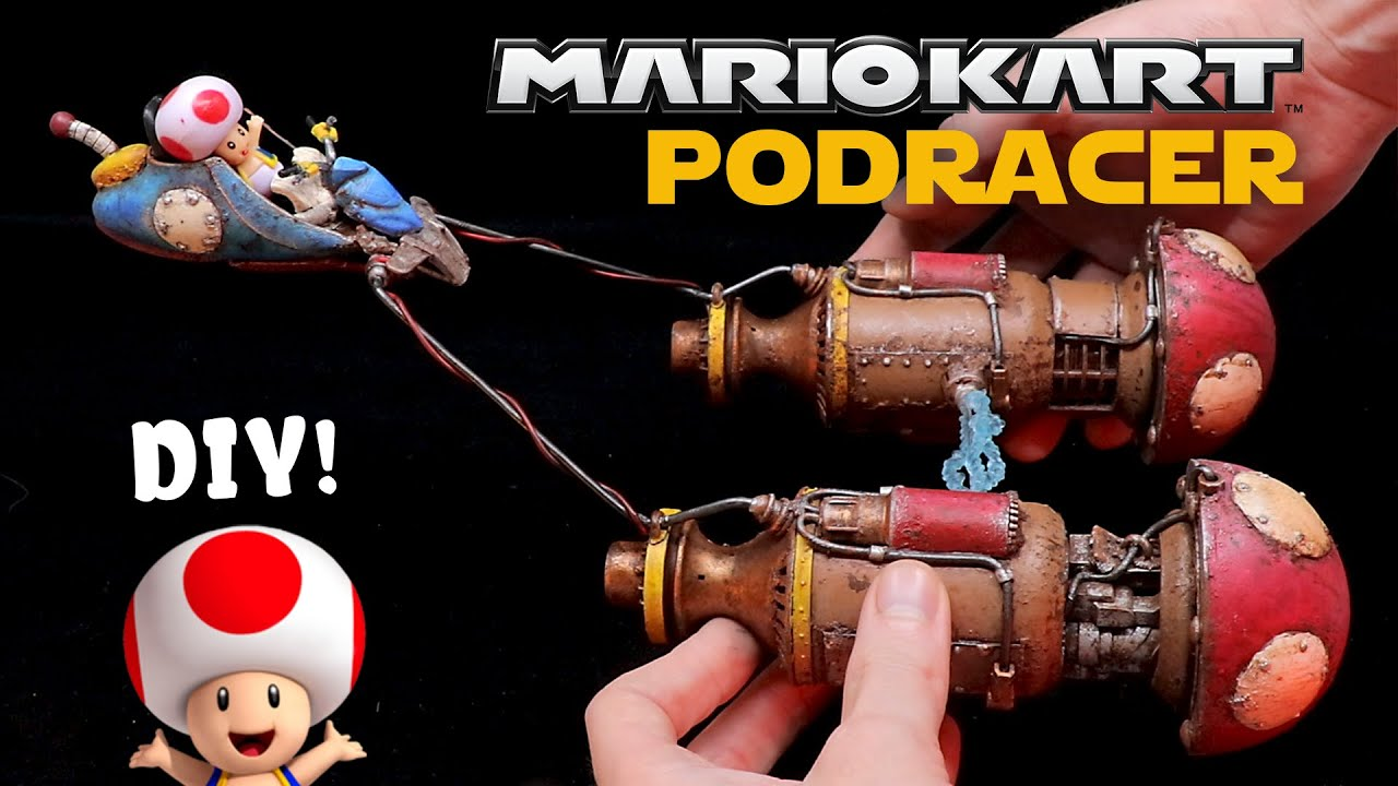 What if TOAD drove a PODRACER in MARIO KART? // Star Wars + Nintendo Kitbash