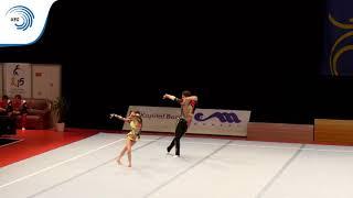Скачать Viktoria AKSENOVA Aleksandr DUBOVITSKIY RUS 2015 Acro European Champions 11 16