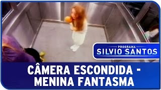 camera escondida menina fantasma no elevador