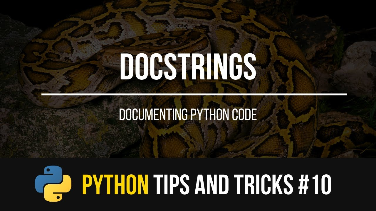 Documenting Your Code in Python