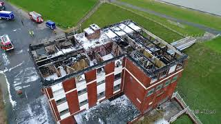 Nordseehotel Husum nach dem Brand am 15.01.2018