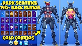 "NEW DARK ""SENTINEL"" SKIN Showcased With 140+ BACK BLINGS! Fortnite BR (BEST DARK SENTINEL COMBOS)"