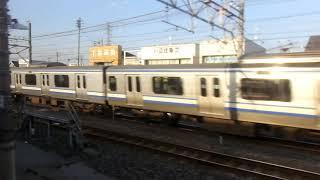 JR東日本E217系MT68 側面展望 千葉→市川(総武線快速) クラY-14編成