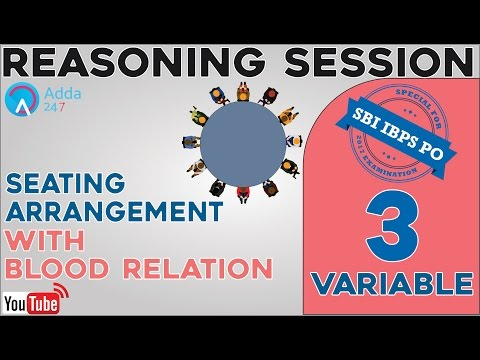 SBI PO 2017 | 3Variable Seating Arrangement With Blood Relation |Online Coaching for SBI,IBPS,BANKPO