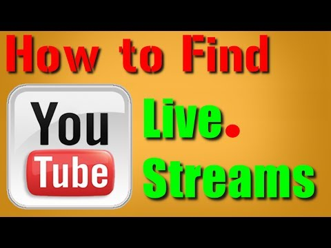 How to find Live Streams on YouTube 2014 With Channel Layout