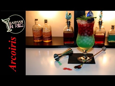 HOW TO MAKE THE COCKTAIL RAINBOW