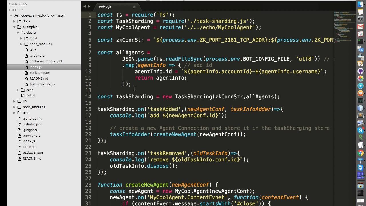 Bot Cluster Example | node-agent-sdk