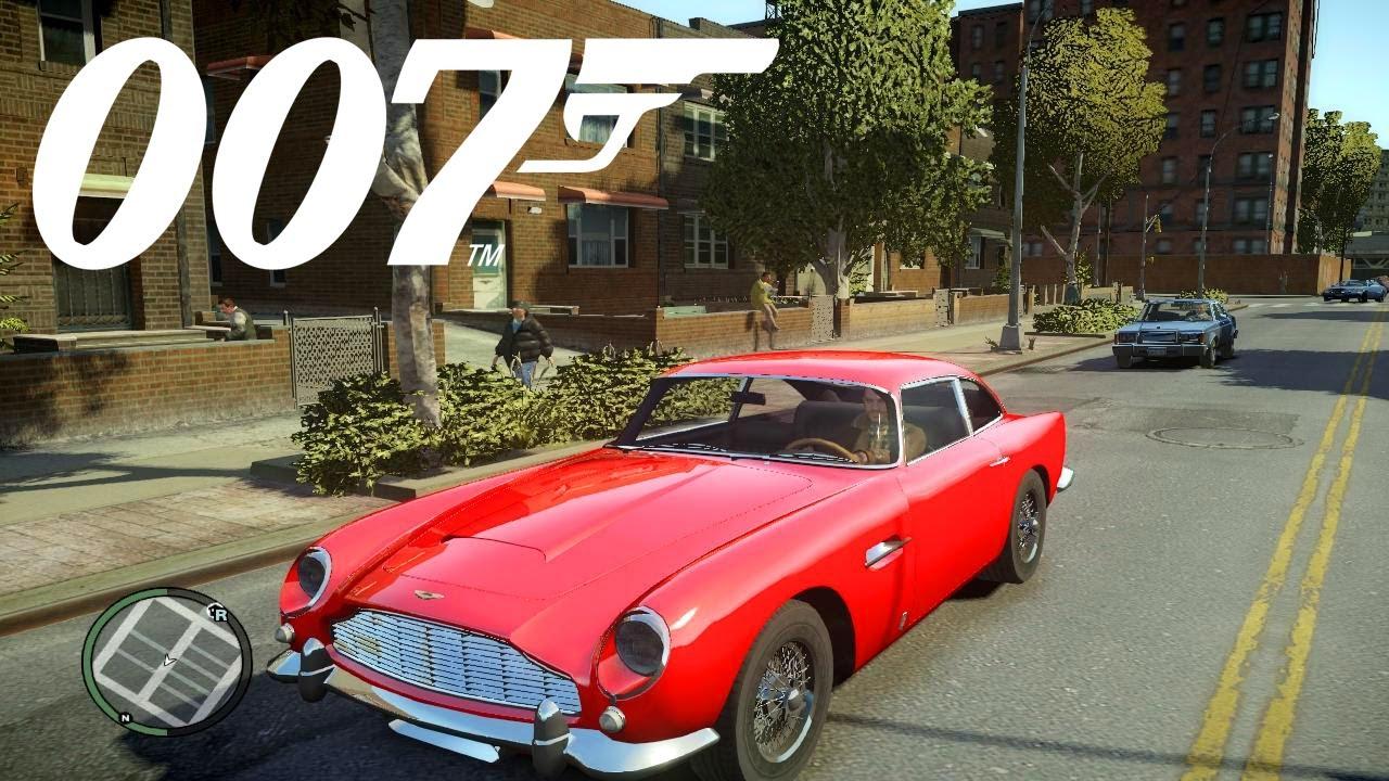 classic james bond car aston martin db5 gta 4 mod youtube. Black Bedroom Furniture Sets. Home Design Ideas