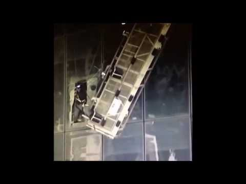 Window washers rescued from 68th floor of One World Trade Center 12 november 2014