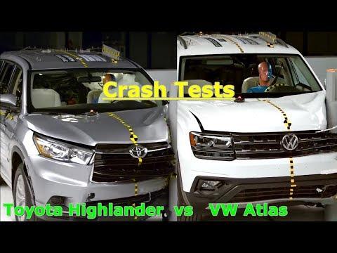 Crash tests: 2018 VW Atlas vs Toyota Highlander