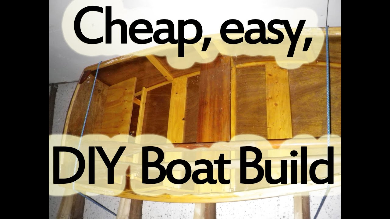 Cheap easy to build DIY flat bottom wooden 2 man boat from scratch - YouTube
