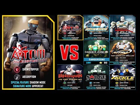 Real Steel WRB ATOM VS ATOM & Shogun & SARGE & NITRO & Tackle & AXELROD & Danger Zone