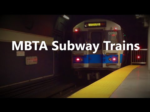 MBTA Subway trains